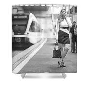 Train Station - Waiting Shower Curtain
