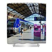 Train Station Marseille France Shower Curtain