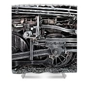 Train - The Wheels Are Turning  Shower Curtain