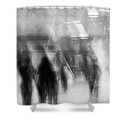 Train To Work  Shower Curtain