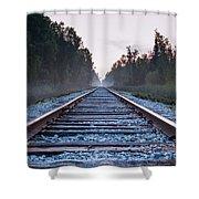 Train Tracks To Nowhere Shower Curtain