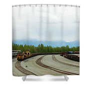 Train Tracks Shower Curtain