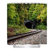 Train Tunnel Shower Curtain