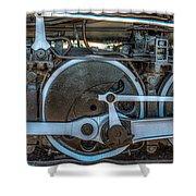 Train Wheels Shower Curtain