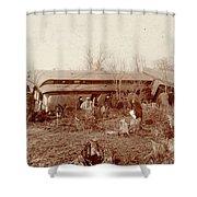 Train Wreck, 1890s Shower Curtain