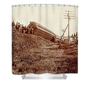 Train Wreck, C1900 Shower Curtain