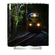 Rails Through The Wilderness Shower Curtain