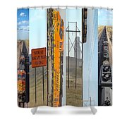 Trains And Coal Mining Shower Curtain