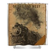 Trains Of The Old West Shower Curtain