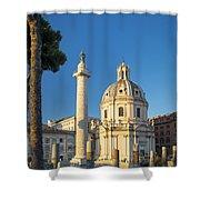 Trajans Column - Rome Shower Curtain