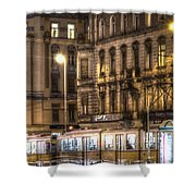 Tram Night Shower Curtain