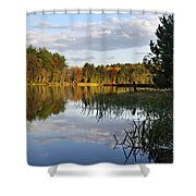 Tranquil Autumn Landscape Shower Curtain