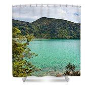Tranquil Bay In Abel Tasman Np In New Zealand Shower Curtain