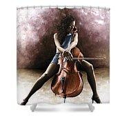 Tranquil Cellist Shower Curtain