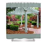 Tranquil Courtyard Shower Curtain