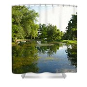 Tranquil - Digital Painting Effect Shower Curtain by Rhonda Barrett