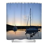 Tranquil Moorings Shower Curtain