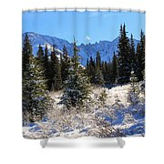 Tranquil Mountain Scene Shower Curtain