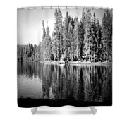 Tranquil Reflection In B And W Shower Curtain