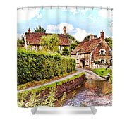 Tranquil Stream Lacock Shower Curtain