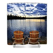 Tranquility At Sunset Shower Curtain by Elena Elisseeva