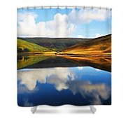 Tranquility Shower Curtain by Ayse Deniz