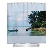 Tranquility In Bermuda Shower Curtain