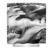 Tranquility In Black And White Shower Curtain