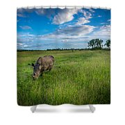 Tranquility On The Plains Shower Curtain