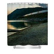 Trans Siberian Sunset Shower Curtain