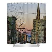 Transamerican Urbanism Shower Curtain