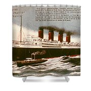 Transatlantic Liner, 1912 Shower Curtain