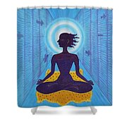 Transcendental Meditation Shower Curtain