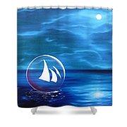 Transcendental Transportation Shower Curtain