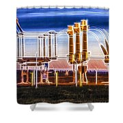 Transfer Of Power Shower Curtain