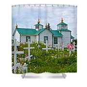 Transfiguration Of Our Lord Russian Orthodox Church In Ninilchik-ak Shower Curtain
