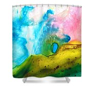 Transformation - Abstract Art By Sharon Cummings Shower Curtain by Sharon Cummings