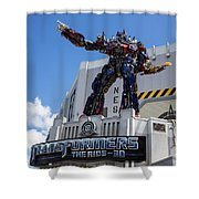Transformers The Ride 3d Universal Studios Shower Curtain
