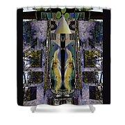 Transformers Transition Bus Man  Shower Curtain
