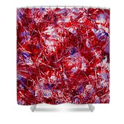 Transitions With White Red And Violet Shower Curtain