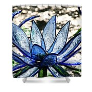 Translucent Blues Shower Curtain