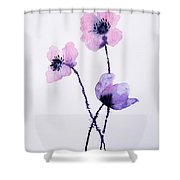 Translucent Poppies Shower Curtain