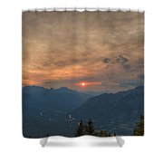 Translucent Sunset In Widescape Shower Curtain