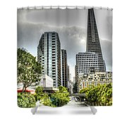 Transmerica Pyramid From The Embarcadero Shower Curtain