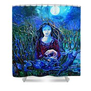 Eostra Holds The Moon Shower Curtain