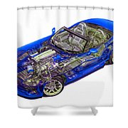 Transparent Car Concept Made In 3d Graphics 1 Shower Curtain