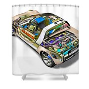 Transparent Car Concept Made In 3d Graphics 2 Shower Curtain
