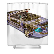 Transparent Car Concept Made In 3d Graphics 6 Shower Curtain