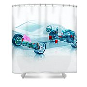 Transparent Car Concept Made In 3d Graphics 7 Shower Curtain
