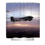 Transport Command  Shower Curtain